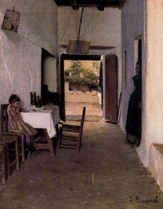 :Santiago Rusiñol - Patio de Sitges Interior