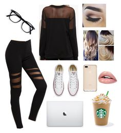 """""""Study Date"""" by genevievemparkinson ❤ liked on Polyvore featuring Converse"""