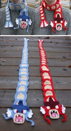 Crocheted Gyarados Scarf