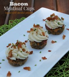 Bacon Meatloaf Cups Topped with Mashed Potatoes #ad Meat And Potatoes Recipes, Meat Recipes, Bacon Meatloaf, Low Carb Meats, Meat Appetizers, Everyday Dishes, Tailgate Food, Dinner Dishes