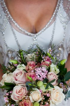 vintage style wedding dress and English country flowers - beautiful! Photo by Crash Taylor via JunebugWeddings.com