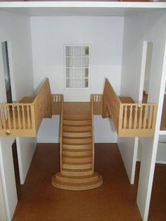Cool idea for interior staircase! #dollhouse