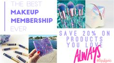 The Best Makeup Membership ever!  If you love LipSense, lipstick, anti aging skincare, makeup, all things beauty - no need to pay retail when you could be saving with wholesale pricing :)  click to read my latest post about how you can get your own awesome makeup membership too!