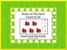 Counting: Students can practice their counting skills with this Down on The Farm count and clip math center activity. These cards focus on Common Core math skills of counting to 20. Students will count the penguins and polar and clip a clothes pin on the correct number.