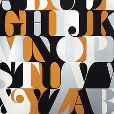 Caslon alphabet print by House Industries. #typehunter #houseindustries