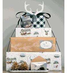 Deer antler gift wrap combo