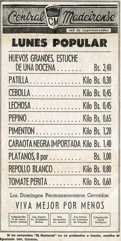 Lunes popular en Central Madeirense. Publicado el 19 de junio de 1966.