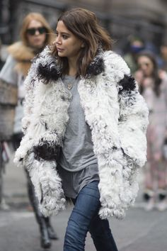 Know that with a standout coat, all you really need is a t-shirt and jeans.