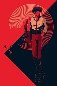 Craig Drake illustration Cowboy Bebop