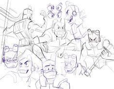 Ninja Turtles Art, Cute Turtles, Teenage Mutant Ninja Turtles, Tmnt Swag, Turtle Tots, Line Art, Random Things, Cartoons, Purple