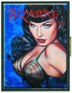 Dark Horse Deluxe Bettie Page: Bizarre Cigarette Case by Dark Horse Deluxe. $29.99. Dark Horse and Retro-A-Go-Go continue their impressive line of Bettie Page collectables. Featuring the famed '50s pinup model. Featuring the officially licensed artwork of Olivia. From the Manufacturer                Dark. Mysterious. Irresistible. It's the dark angel, Bettie Page, at her seductive best. Bettie's black bangs, long leather gloves, and smoky stare could only be captur...