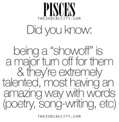 Daily updated fun facts on the zodiac signs. Pisces Love, Astrology Pisces, Zodiac Signs Pisces, Pisces Quotes, Pisces Woman, My Zodiac Sign, Zodiac Facts, Astrology Signs, Feb 27 Zodiac