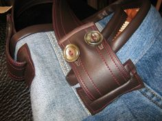 The Train To Crazy: How to sew leather straps for handbags and purses: Guest Post by Paradiso Designs