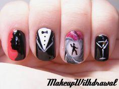 Shaken, Not Stirred. James Bond Inspired Nails