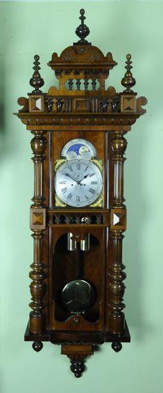 große wanduhr im historismusstil pendeluhrwerk mit 2 gewichten ... - Design Standuhr Pendel Antike