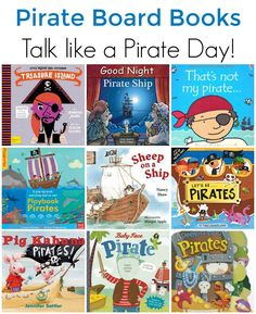 Pirate Board Books for Toddlers and Preschoolers. Perfect for Talk Like a Pirate… Toddler Books, Childrens Books, Baby Books, Preschool Books, Toddler Preschool, Literacy Activities, Activities For Kids, Everyday Activities, Pirate Day