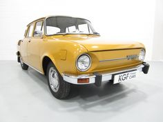 A very rare and complete surviving Skoda Deluxe with just miles from a Main Dealer Skoda showroom. Mini Car, Volkswagen Group, Yellow Car, Sprint Cars, Car Makes, Small Cars, Old Cars, Cars And Motorcycles, Vintage Cars