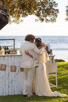 Loving this vintage bar at Jenny and Mark's beautiful Olowalu Plantation Estate. Aloha Bars Maui. Hawaii Weddings by Tori Rogers. Maui Wedding Planner. Boho Chic Wedding. Maui Bartender. Maui Wedding Location. www.hawaiianweddings.net