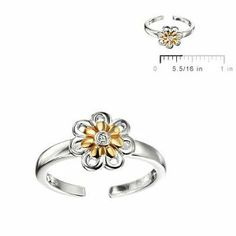 Sterling Silver Diamond Flower Adjustable Kids Jewelry Ring For Girls Loveivy. $49.95. Free Gift Packaging. For Children Age 2-5 5-10 10-16