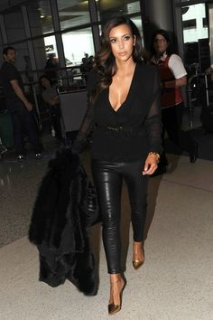 Kim Kardashian love everything abuot this {except the shirt's neckline}