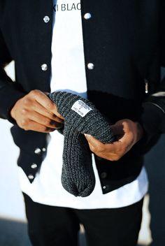 MKI Black Varsity, List Tee & Chunky Beanie