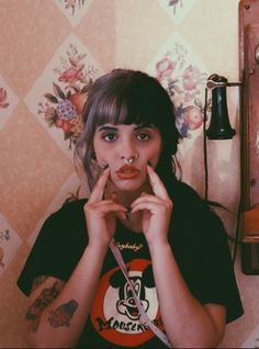 Melanie Martinez dressed in a black The Mickey Mouse Club Mouseketeers Logo Tee for Adults Melanie Martinez Style, Mealine Martinez, Crybaby Melanie Martinez, Crazy People, Pretty People, Cry Baby, Celebrity Crush, Girl Crushes, Divas