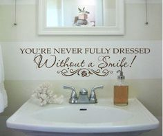 Wall Decals Without a Smile Inspirational Annie Small 011-30... This would be so cute in the bathrooms!
