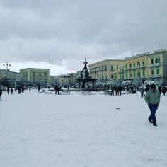#january #7th #2K17 #snow #piazza #giovinazzo #fun #enjoy✌ #bestplace #amazing