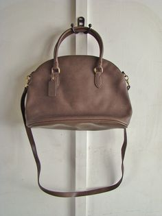 vintage brown/gray pebbled leatherlook handbag by ErinSheaVintage, $32.00