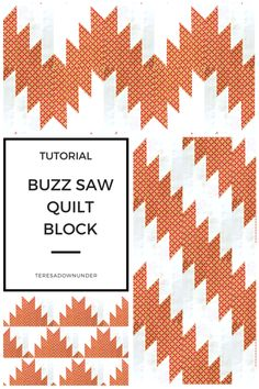 tutorial: Buzzsaw or delectable mountains quilt block Buzzsaw quilt block - free video tutorial. You can make several quilt designs with this block. You can make several quilt designs with this block. Quilting Templates, Quilting Tutorials, Quilting Projects, Quilting Designs, Easy Quilt Patterns, Pattern Blocks, Scrappy Quilts, Easy Quilts, Hunters Star Quilt