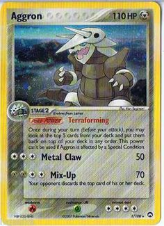 Pokemon Card EX Power Keepers Holo Rare Aggron 1/108 FREE Combined Ship