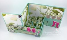 addINKtive designs: A Gift from the Garden - Pop-Up, Z-Fold, Card in a Box - Tutorial now available