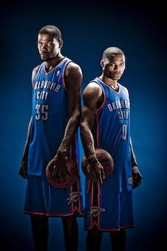 Russell Westbrook 0 & Kevin Durant 35 KD OKC Thunder