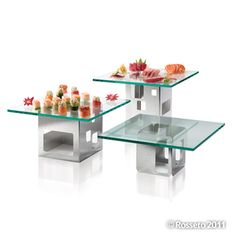 Stainless Steel Food Riser|Buffet Food Riser|Stainless Steel Food Display > Square Risers Buffet System