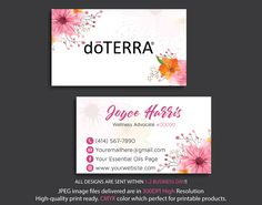 Doterra Business Cards, Essential Oil Business Card, Personalized Doterra Business Card, Digital file card, DT13 by digitalart, $9.00 USD Business Card Size, Business Card Design, Doterra Logo, Doterra Business Cards, Free Printable Business Cards, Doterra Essential Oils, Card Sizes, Your Cards, Essentials