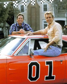 Every Friday night my bf & I would talk on the phone & watch the Dukes of Hazard. We were totally in love with John Schnieder =)