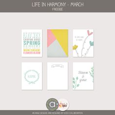 FREE Life in harmony - March Freebie From Simplementscrap