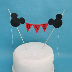 Mickey mouse Cake banner smash cake  birthday by Hartranftdesign, $23.00