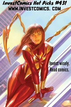 Mary Jane wears the Iron Spider Armor this week! Gotham and Gotham Girl are back again, plus MORE in this week's new weekly InvestComics Hot Picks! #InvestComics #SpiderMan #Batman #SuperheroStuff #comics #comicbooks #comic #SuperHero #superheroes #MarvelComics #DCCOMICS #NewComics #NewComicBookWednesday #ComicsForSale #walkingdead #twd #blog #blogger #website #creative #deadpool #dcrebirth @onipress @thepizzolo