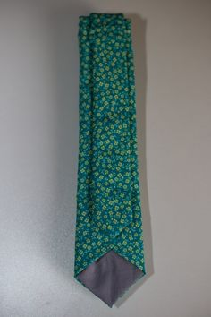 Turquoise with Yellow and Light Turquoise Mini Floral Pattern Different Light, Skinny Ties, Light Turquoise, Lining Fabric, Wedding Looks, Raisin, True Colors, Dress Shirt, Floral Tie
