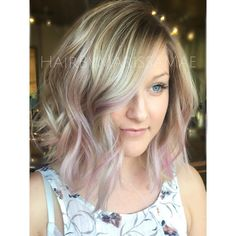 """Marissa Mae on Instagram: """"Up-close of this icy blonde and pastel pink from the…"""
