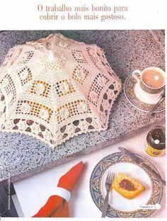 Artes em croche: Cobre bolos