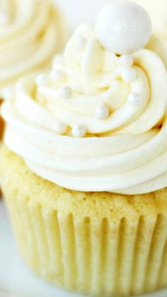 Coconut Cupcakes ~ They are so moist and light and full of flavor