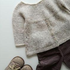 Baby Sweater Knitting Pattern, Knit Baby Sweaters, Baby Patterns, Sweater Knitting Patterns, Knit Patterns, Diy Crafts Knitting, Knitting For Kids, Easy Knitting, Crochet Baby