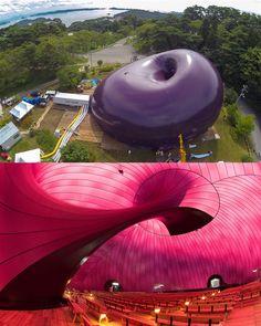 ↝ Increíble #arquitectura neumática.  Aire inflable con ritmo y formas innovadoras. Inspírate