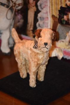 Antique Doll Toy Dog Terrier Mohair Jointed WONDERFUL Doll Friend