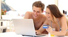 Buy Couple buying online on holidays by AntonioGuillem on PhotoDune. Couple buying online on holidays with a laptop and credit card on the beach Credit Card Hacks, Shadow People, Technology Photos, At The Hotel, Business Travel, Trip Planning, Budgeting, Stock Photos, How To Plan