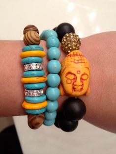 Custom bracelet set by Lindsay Rae Designs