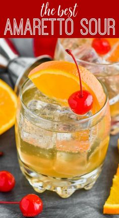 Easy Amaretto Sour Recipe: This Amaretto Sour Recipe is the classic cocktail that you love! With only three ingredients, this amaretto sour recipe is so easy to make, it is bound to be your regular go to! Amaretto Drinks, Amaretto Recipe, Sour Recipe, Alcoholic Drinks, Shots Drinks, Liquor Drinks, Bourbon Drinks, Best Margarita Recipe, Margarita Recipes