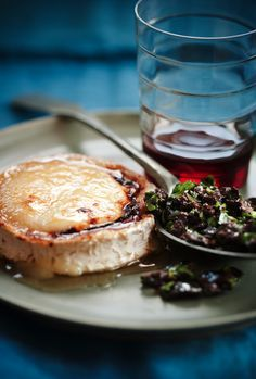 Sweet Paul's Honey Toasted Goat Cheese with Olive Tapenade